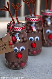Mason Jar Decorating Ideas For Christmas The Hankful House Reindeer Noses Mason Gift Jars Picmia 88