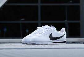 men nike classic cortez leather white black shoes mens nike shoes z35g9646 larger image