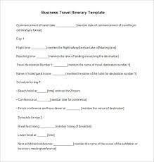Business Trip Agenda Template 13 Business Travel Itinerary Template Word Excle Pdf Free
