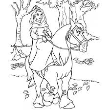 Disegno Di Belle A Cavallo Da Colorare Per Bambini