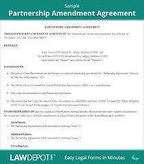 Trust Amendment Form Partnership Amendment Form US LawDepot 7