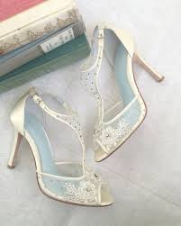 823 best bridal shoes images on pinterest bridal shoes, shoes Modern Wedding Flats t strap wedding shoes with beading and flower embroidery, mesh and ivory silk bridal heels modern wedding shoes