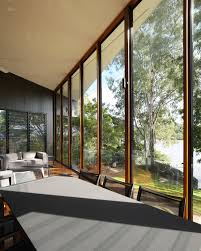 Large Glass Facade for Mesmerizing Modern Natural Home - Interior ...
