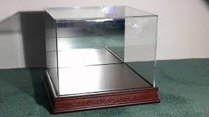 deluxe acrylic wood base baseball cap hat display case w mirror backoffered by perfect sports fan