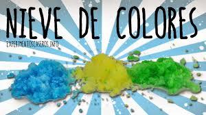Experimentos Caseros C Mo Hacer Nieve Artificial De Colores En Casa