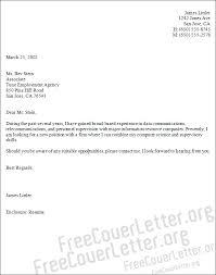 Data Communications Analyst Cover Letter Sample