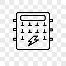 fuse box vector icon isolated on transparent background fuse fuse box vector icon isolated on transparent background fuse box logo concept stock vector