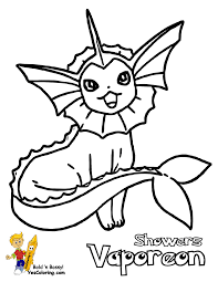 Pokemon Vaporeon Coloring Pages - GetColoringPages.com