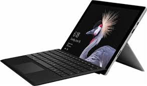 microsoft surface laptop. microsoft - surface pro core m with black type cover platinum angle_zoom laptop