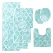 blue bathroom rugs spa bath rug collection tiffany light green