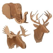 Moose Kitchen Decor Cardboard Animal Heads Paper Deer Moose Elephant Uncommongoods