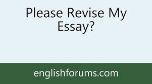 please revise my essay