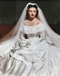 Colorized wedding portrait of Marjorie Anne Jewell Dudley in 1949 ...