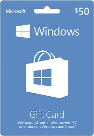 Microsoft Giftcard Microsoft Windows Store 50 Gift Card