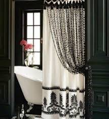 white and black shower curtain. Beaded Shower Curtains White And Black Curtain