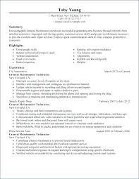 Auto Tech Resumes Auto Tech Resume Sample Body Technician Summary Automotive Samples