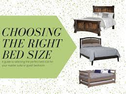 Choose The Right Bed Size For You Countryside Amish Furniture