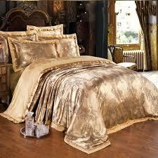 gold bedding king gold jacquard silk comforter duvet cover king queen luxury satin bed sheet linen gold bedding