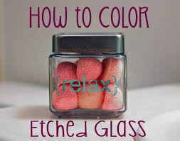 how to color etched glass using rub n buff patina