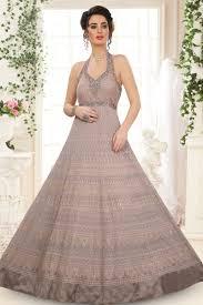Halter Gown Designs Halter Neck Style Mauve Color Designer Gown