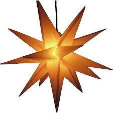 Außenstern 65 Cm 3 Farben Beleuchteter Stern Weihnachtsstern Faltstern Gelb