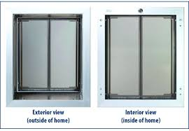 how to install a doggy door wall installation of pet can you doggie in french stucco screen