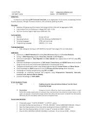 Academic Resume Examples Amazing Business Objects Resume Sample Kappalab