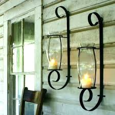 outdoor wall sconces for candles mounted candle lanterns lights glass holders