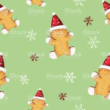 cute gingerbread background. Contemporary Cute Gingerbread Cookies Seamless Pattern Cute Background For New Yearu0027s Day  Christmas Winter Holiday In Background R