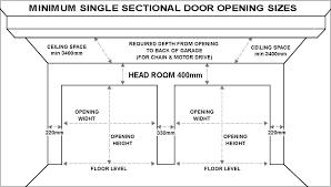 rough openings for garage doors garage door size opening rough ideas