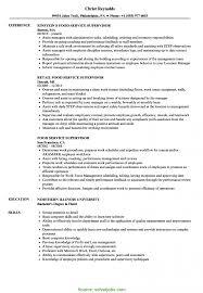 Food Service Experience Resume Unusual Food Service Supervisor Resume Food Service Supervisor 18