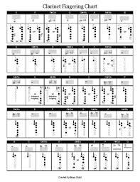 Band Instrument Fingering Charts Full Set Full Ranges