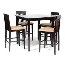Ensemble table haute + 4 chaises hautes Hélicia Wengué/Beige - Achat ...