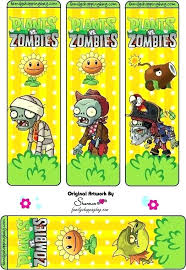 Zombie Printable Bookmarks Plants Vs Zombies Others Zombie Printable