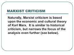 an overview of some critical approaches for literary essays how  9 marxist criticism