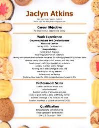 bakery cashier resume fast food cashier resume