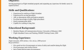 Flight Attendant Resume Templates Inspiration Resume Sle For Flight Attendant 48 Images Resume Sle Flight