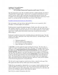 Apa Format Thesis Proposal College Paper Example