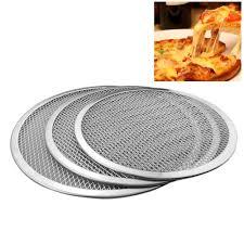 Pizza Chảo Nhôm Dày Không Dính Lưới Tròn Pizza Lưới Chảo Nướng Khay Đựng  Dụng Cụ Nhà Bếp 6/7/ 8/9/10/11/12/13/16 Inch Pizza Lò Nướng|Pizza Tools