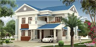 2000 sq feet beautiful villa elevation design style house 3d models