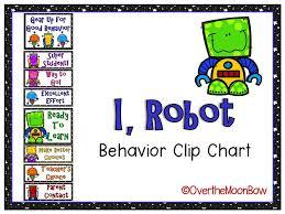 I Robot Themed Behavior Clip Chart