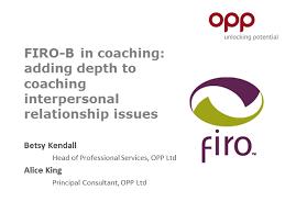 Firo B Firo B In Coaching Adding Depth To Coaching Interpersonal
