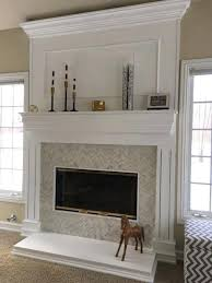 fireplace refacing herringbone tile reface brick with marble
