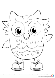O The Owl From Daniel Tiger Coloring Pages Free Printable Coloring