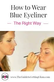 want to know how to wear blue eyeliner watch this tutorial and learn makeup artist
