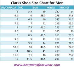 Clarks Shoe Size Chart For Men Find The Perfect Shoe Size
