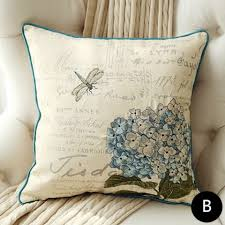 Bird embroidered throw pillows for living room animal cushions