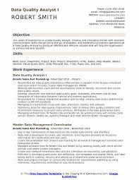 Data Quality Analyst Resume Samples Qwikresume