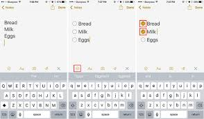 How To Create Interactive Checklists In Notes For Ios 9