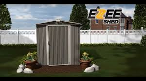 arrow ezee shed steel storage shed 6ft x 5ft low gable cream with cream trim model ez6565lvcr